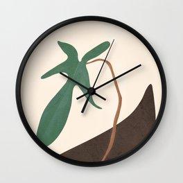 Minimal New Leaf Wall Clock