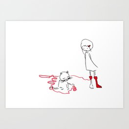 ms slow and her socks #3 Art Print