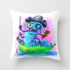 pirate worm Throw Pillow