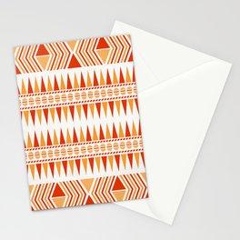 052 Traditional orange and red navajo pattern interpretation Stationery Cards