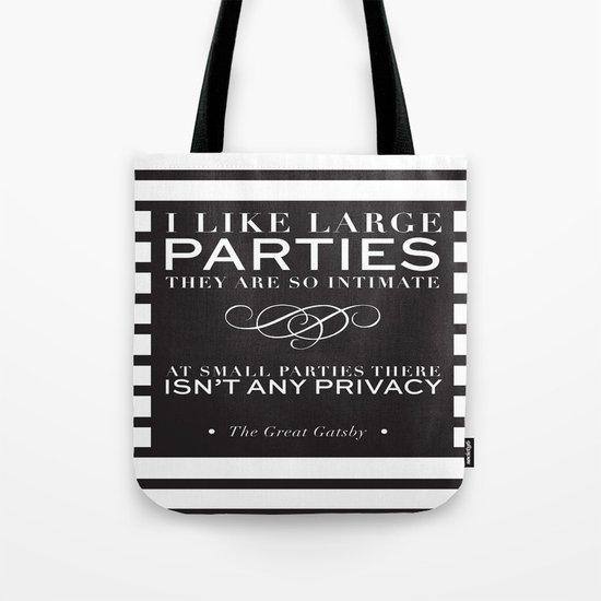 I like large parties - modern design Tote Bag