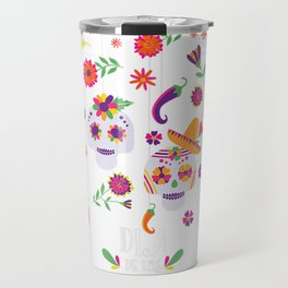 Dia De Los Muertos Funny Day of the dead Hanging skulls T-Shirt Travel Mug