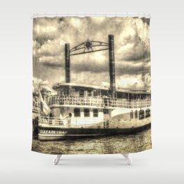 The Elizabethan Paddle Steamer Vintage Shower Curtain