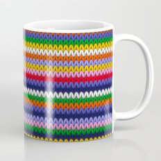 Knitted colorful lines Mug