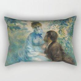 "Auguste Renoir ""Lovers"" Rectangular Pillow"