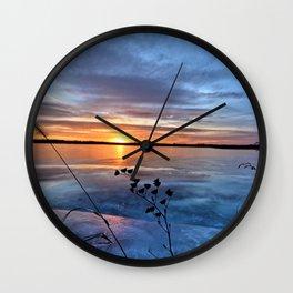 Late Autumn Sun Wall Clock