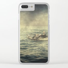 Old man and the sea Clear iPhone Case