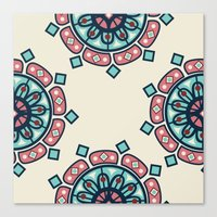 morrocan Canvas Prints featuring Morrocan Mandala by Ma. Christina Roxas-Cabrera
