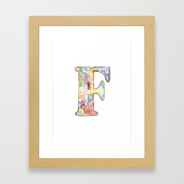 Letter G - Watercolor Monogram - Colorful Lettering - Watercolor Letter Print - Watercolor Initial Framed Art Print