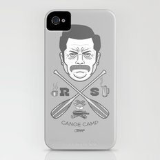 Ron Swanson Canoe Camp (clean gray variant) iPhone (4, 4s) Slim Case