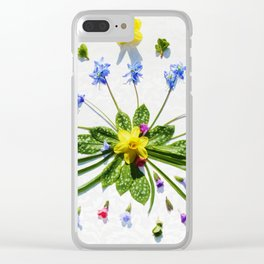 Spring flowers and branches II Clear iPhone Case