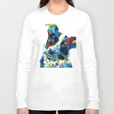 Colorful Dog Art - Irresistible - By Sharon Cummings Long Sleeve T-shirt