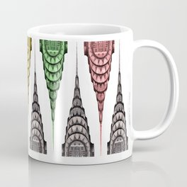 Chrysler Building Design with Opposing Color Elements Coffee Mug