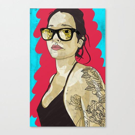 Tattoo flowers Canvas Print