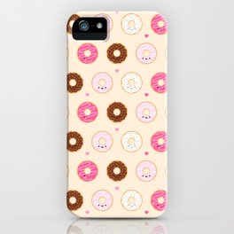Cute Little Donuts on Cream iPhone Case