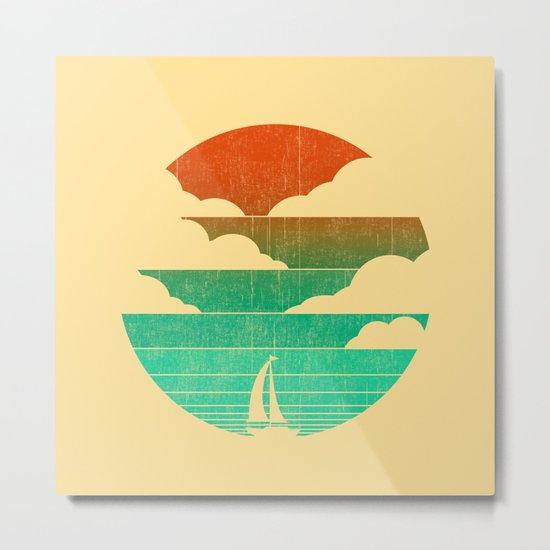 Go West (sail away in my boat) Metal Print