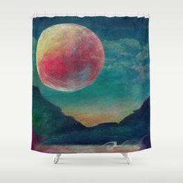 On The Nature Of Moonlight Shower Curtain