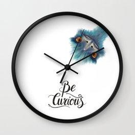 Teal Emu Wall Clock