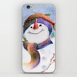 Winter Joy Snowman iPhone Skin