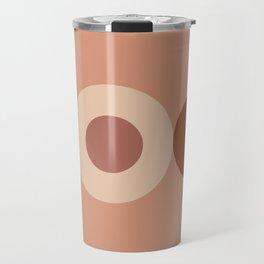 Geometric terracotta VIII Travel Mug