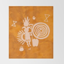 Petroglyphs 2 Throw Blanket
