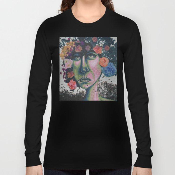 Nature In Glitter Lipstick Long Sleeve T-shirt