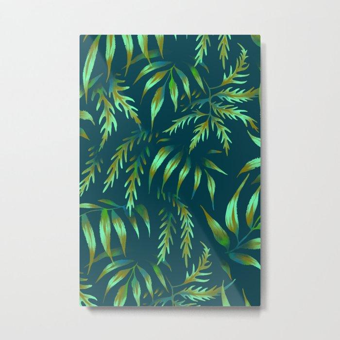 Brooklyn Forest - Green Metal Print