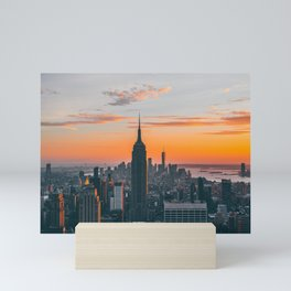 Top Of The Rock at Sunset Mini Art Print