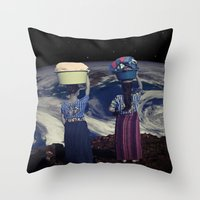 planet Throw Pillows featuring Planet by Cs025
