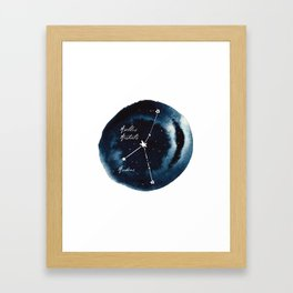 Cancer Zodiac Constellation Framed Art Print