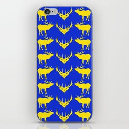 Graphic Swedish Elk on Blue iPhone Skin