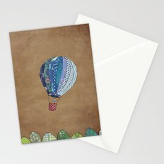 Blue hot air balloon Stationery Cards
