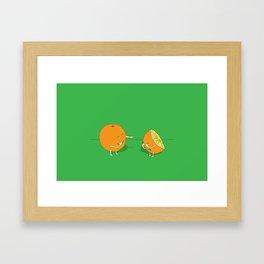 Psychoanalytic Oranges Framed Art Print