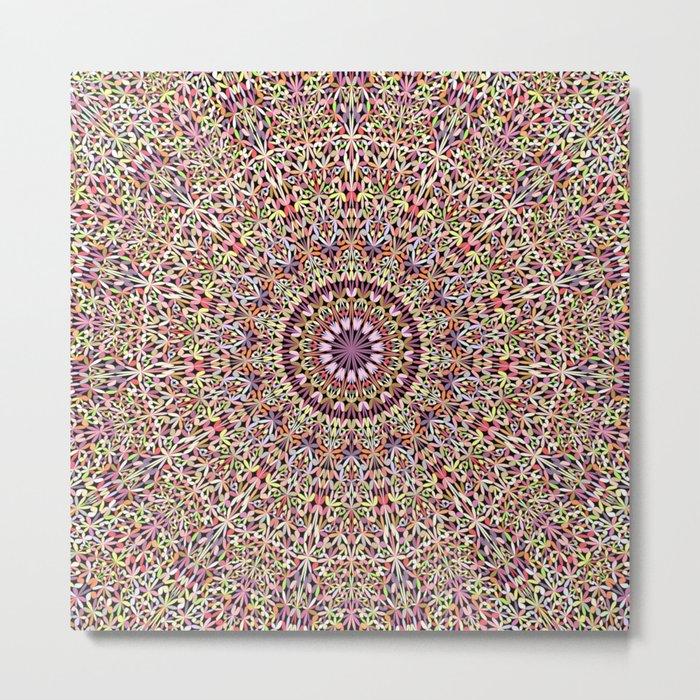 Magical Mandala Garden Metal Print
