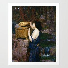 PANDORAS BOX - JOHN WILLIAM WATERHOUSE  Art Print