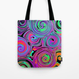 Trippy Psychedelic Swirls Tote Bag