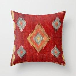 Çal  Antique Turkish Kilim Print Throw Pillow