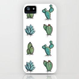 Kawaii Cute Desert Cacti Plants iPhone Case
