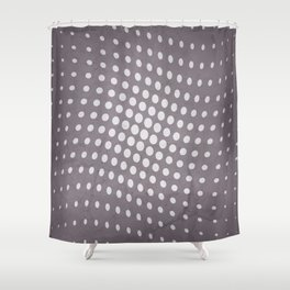 Halftone Flowing Circles in Aubergine Shower Curtain