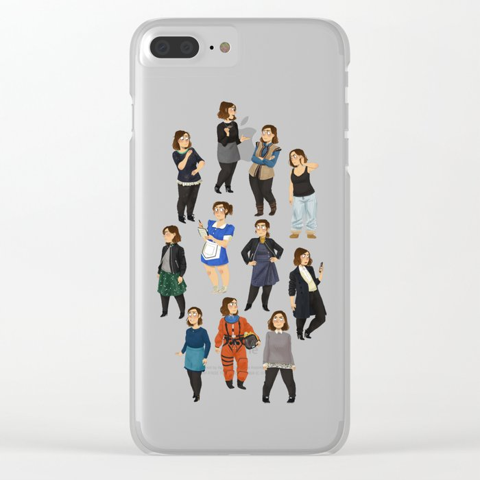 quality design b728e 27343 Every Clara Outfit Ever | S9 Clear iPhone Case by jobee