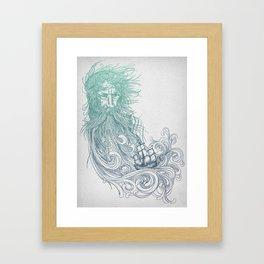Sea Beard Framed Art Print