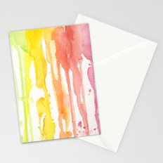 Rainbow Watercolor Texture Pattern Abstract Stationery Cards