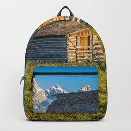 Grand Teton National Park Barn Sunrise Landscape Mountains Wyoming Backpack