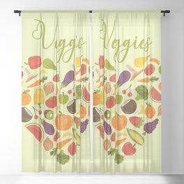 Veggies Sheer Curtain