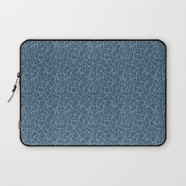 Blue & Beige Abstract Crescent Moon Shape Pattern Pairs To 2020 Color of the Year Chinese Porcelain Laptop Sleeve