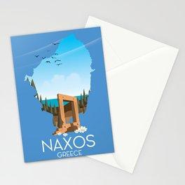 Naxos Greek travel poster. Stationery Cards