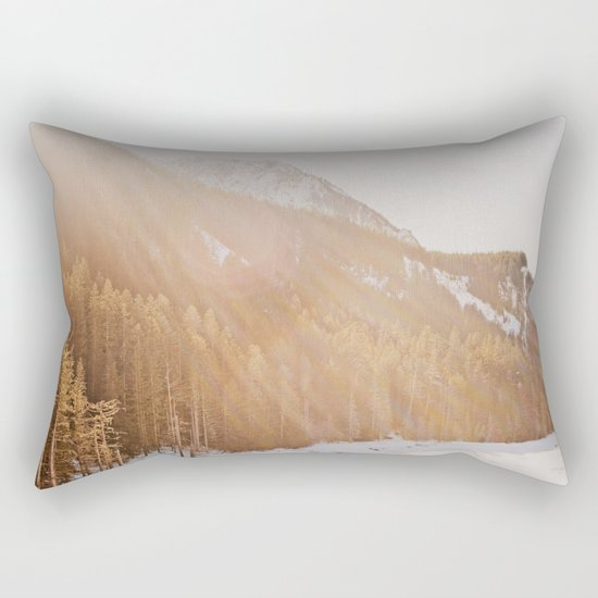 Sun Shining through the Mountains Rectangular Pillow