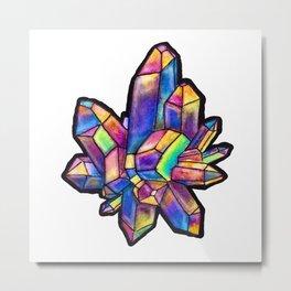 Titanium Crystal Metal Print