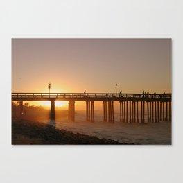 Ventura Pier at Sunet Canvas Print