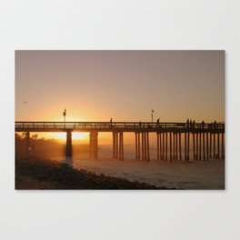 Ventura Pier at Sunet Canvas Print